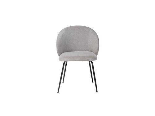 Clara matte velvet Dining Chair in Grey