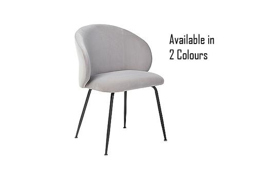 Clara matte velvet Dining Chair in Grey