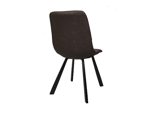 Colin Eco Leather Dining Chair in Grey