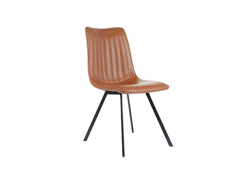 Delphi Eco Leather Dining Chair Vintage Cognac