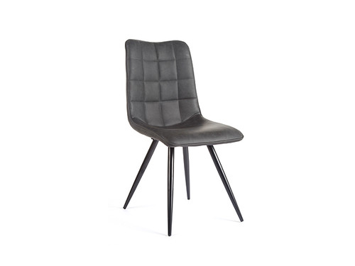 Mars Eco Leather Dining Chair in Black