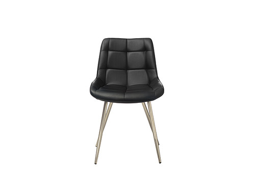 Trix Eco Leather Dining Chair in Black