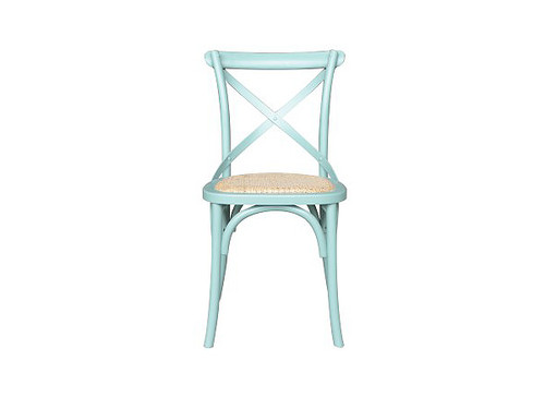 Barista Cross Back Dining Chair in Arctic Blue