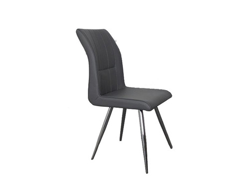 Alex Upholstered Dining Chair in Grey