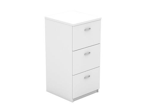Oxford 3 Drawer Filing Cabinet White