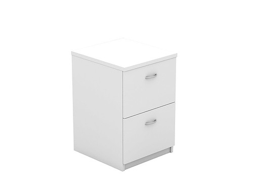 Oxford 2 Drawer Filing Cabinet White