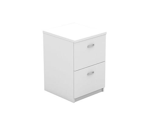 Oxford 2 Drawer Filing Cabinet White