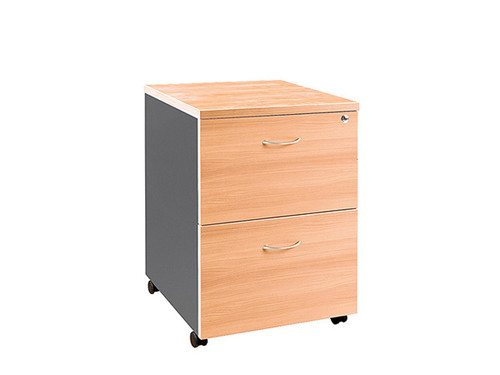 Oxford Mobile Pedestal 2 File Beech/Charcoal