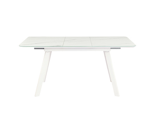 Bari Extension Dining Table in White Quartz