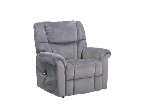Monroe Fabric Lift Recliner in Navy