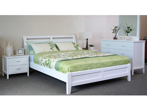 Soho King Single Bed in White