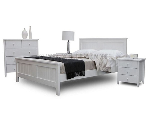 Brighton Double Bed in White