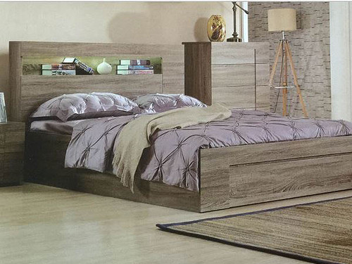 Savannah King Single Bed With Gas Lift Storage