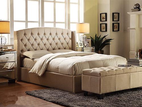 Hampton King Bed in Linen