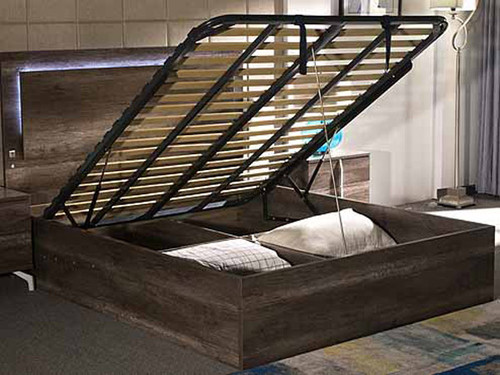 Paddingson  King Bed with Gas Lift Storage