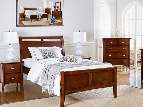 Clovelly Double Bed in Walnut