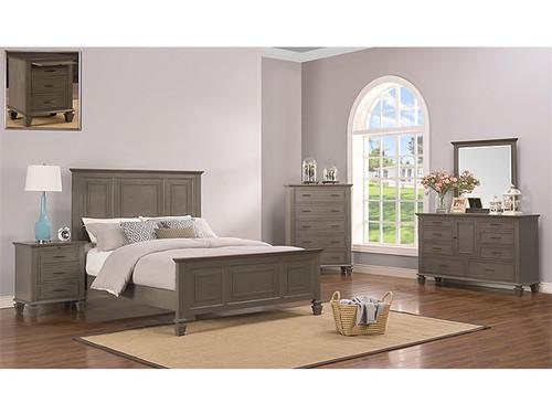 Miranda King Bed in Grey