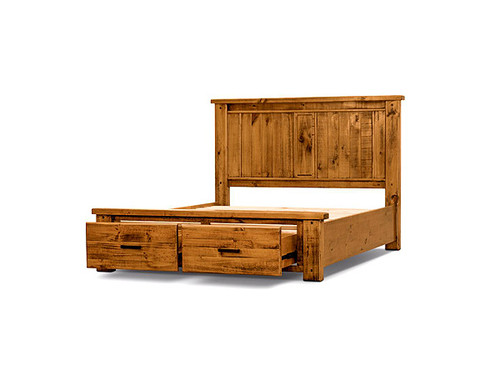 Outback King Bed with Storage Drawers