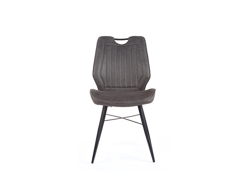 Rimini Ultrasuede Fabric Dining Chair in Charcoal