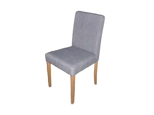 Ashton Fabric Dining Chair in Light Grey with Blonde Legs