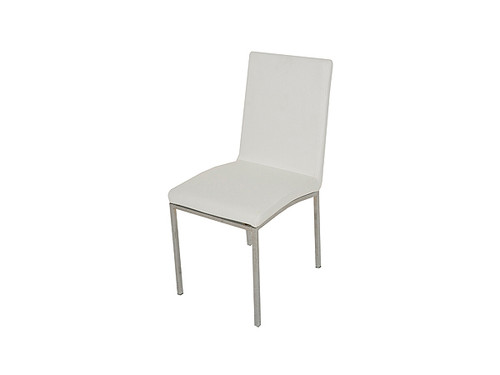 Bari PU Upholstered Dining Chair in White
