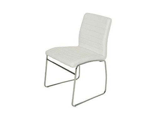 Coogee PU Upholstered Dining Chair in White