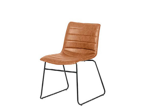Cincinnati PU Upholstered Dining Chair in Tan