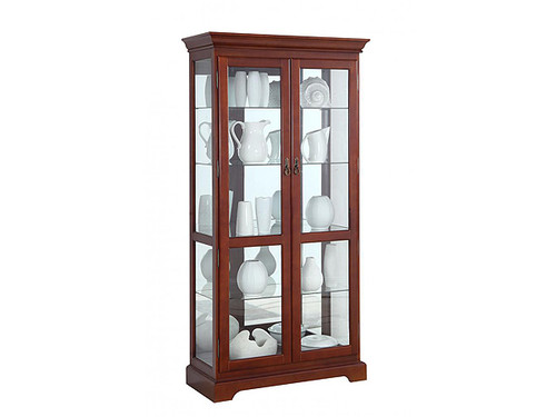 Newcastle Traditional Display Cabinet in Vintage Walnut