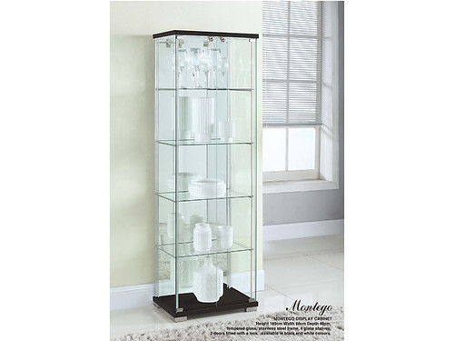 Montego Contempory Display Cabinet in Black