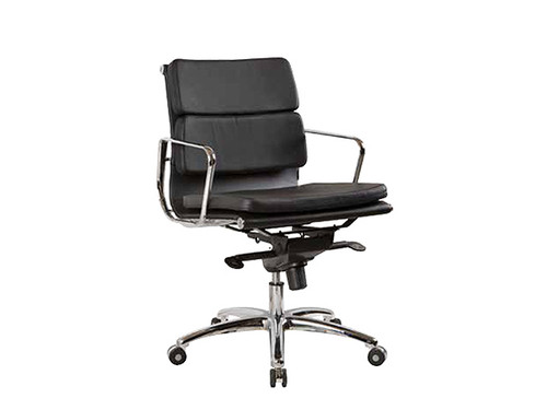 Flash Italian Leather Executive Chair Low Back
