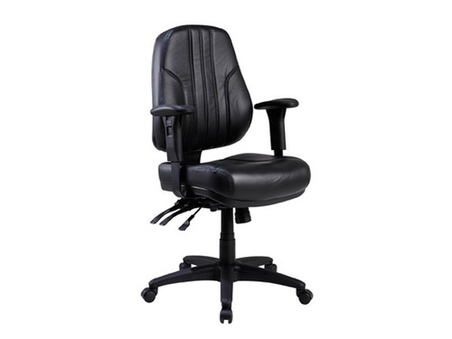 Rover Leather Ergonomic Office Chair Low Back