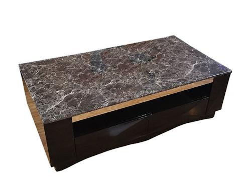 Carla Granite Top Coffee Table in Black