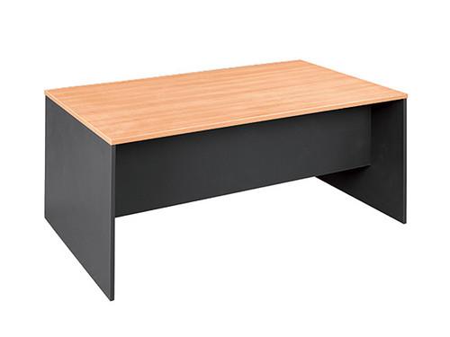 Oxford Office Desk W1800xD750 in Beech /Charcoal