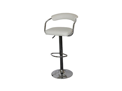 Cambridge PU Upholstered Gas Lift Bar Stool in White