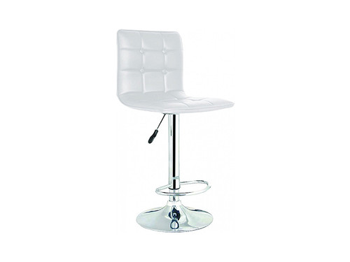 Dino Gas Lift Bar Stool in White