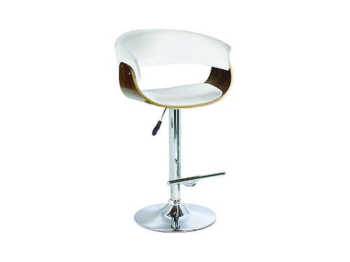 Focus Gas Lift Bar Stool in White