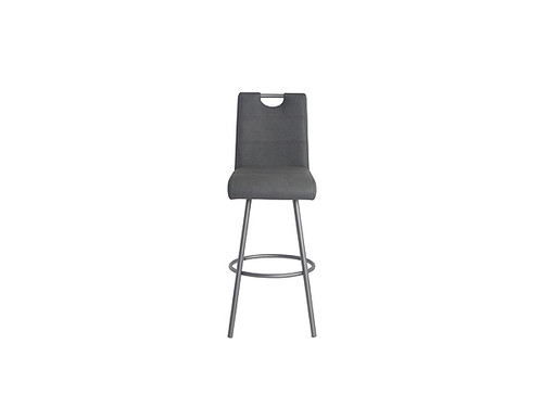 Rolf Eco Leather Bar Stool in Charcoal