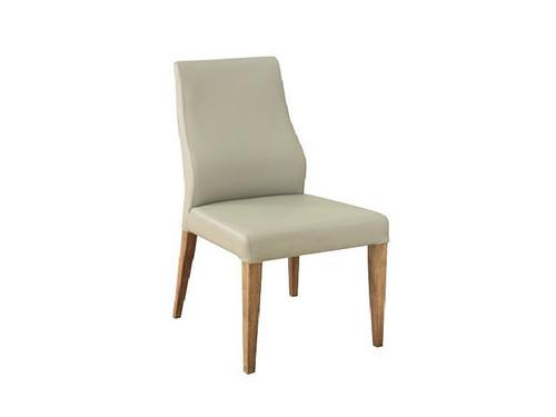 Highland Dining Chair Medi Silver PU
