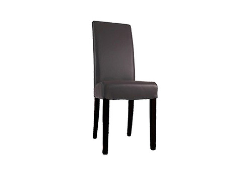Toronto Leather Dining Chair in Chocolate