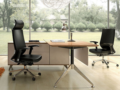 Potenza Rectangle Desk with Return