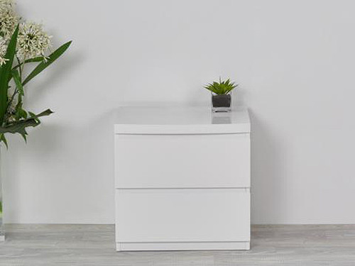 Bali Bedside Table in Gloss White