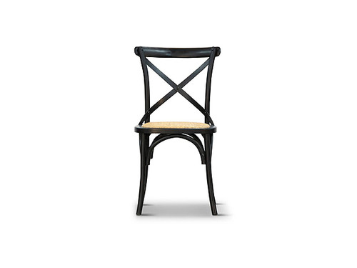 Barista Cross Back Dining Chair in Black