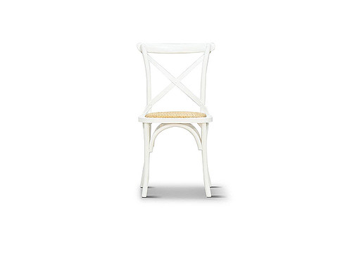 Barista Cross Back Dining Chair in White
