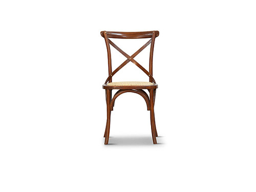 Barista Cross Back Dining Chair in Light Honey