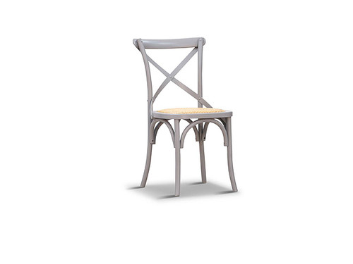 Barista Cross Back Dining Chair in Pewter Grey
