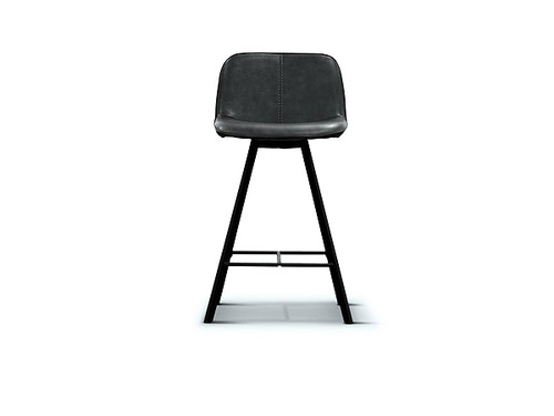 Agnes Bar Stool in Dark Grey
