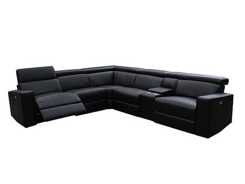 Volante Corner Leather Modular with Electric Recliners