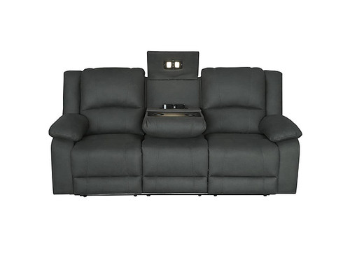 Captain 3 Seater with Electric Recliners and Dropdown Table in Jet