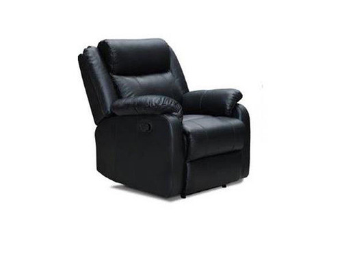 Paramount Leather Manual Recliner in Black