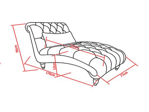 Romano Chaise Dimensions